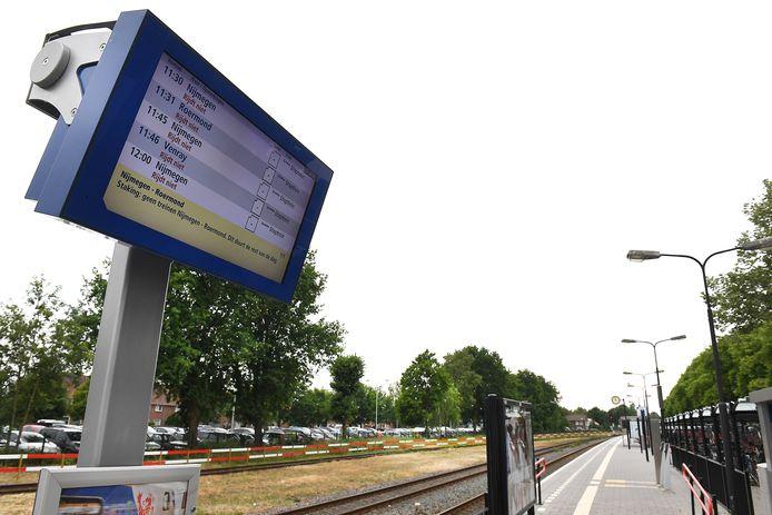 Het station in Boxmeer tijdens een recente staking.