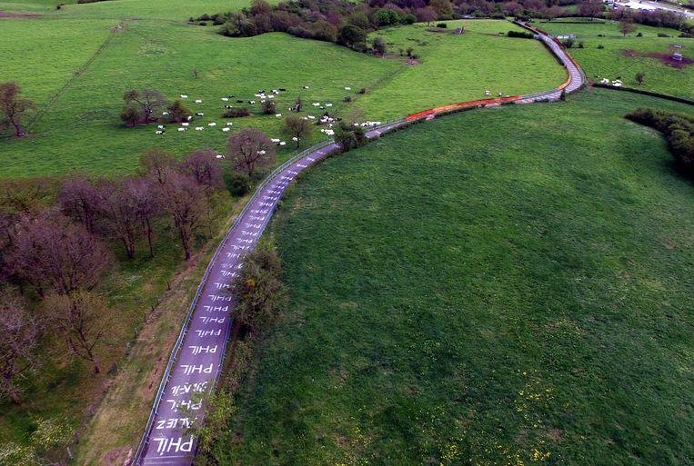 Luchtbeeld van La Redoute, nabij Remouchamps. Beeld BELGA