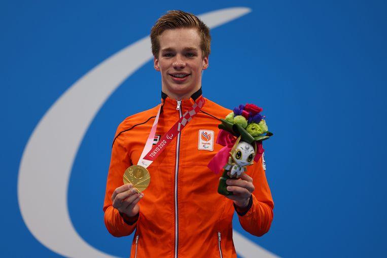 Rogier Dorsman gaat naar huis met drie medailles. Beeld REUTERS