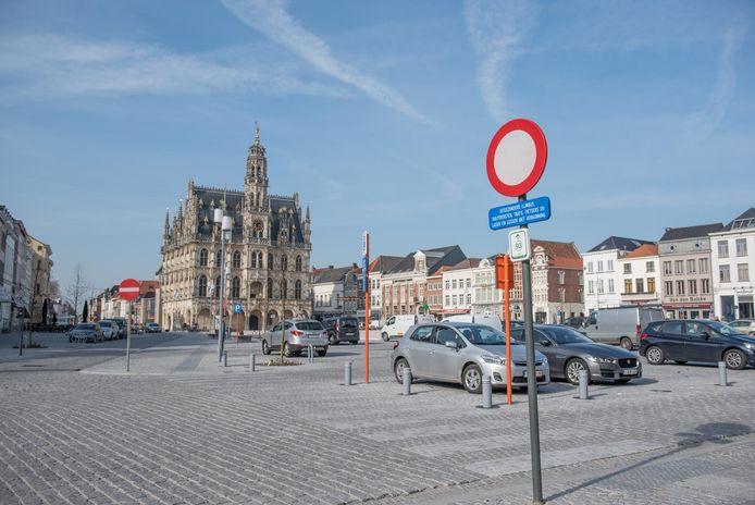 De Markt in Oudenaarde.