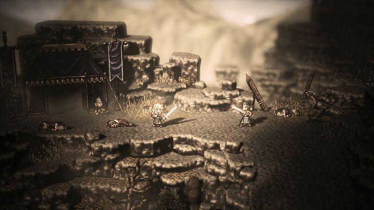 Beeld uit de introsequentie van het aandoenlijk epische 'Octopath Traveler'. Beeld Square Enix