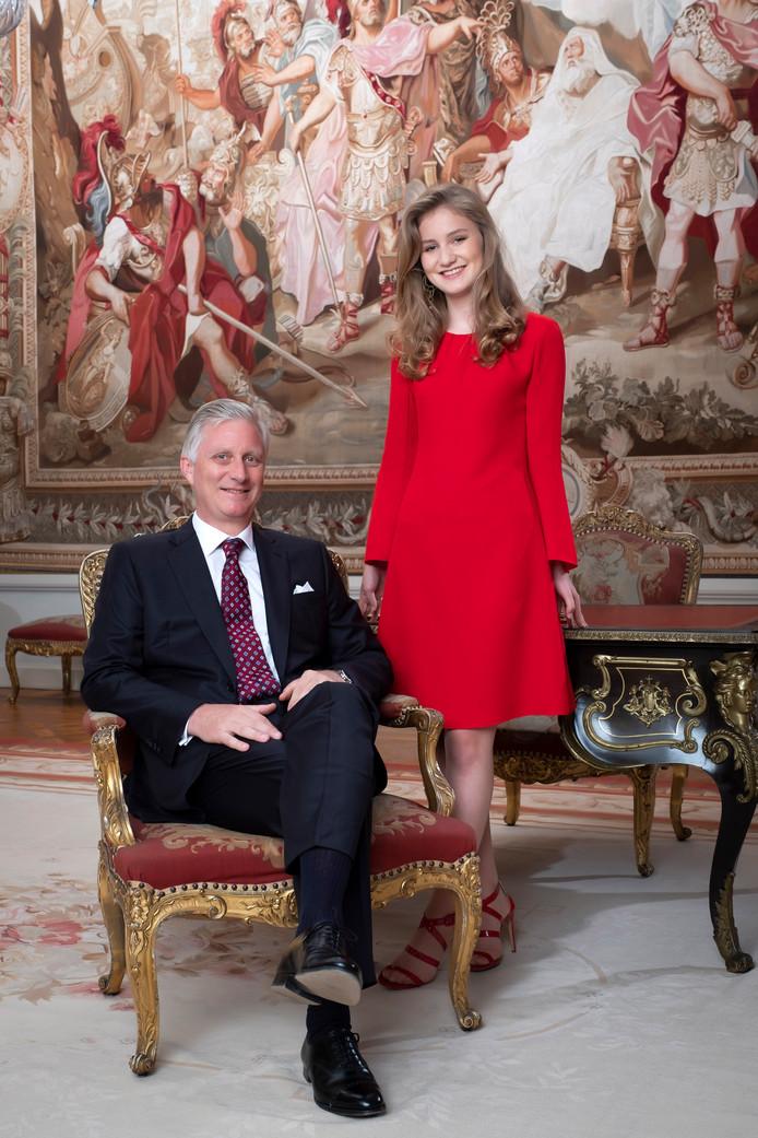 La princesse Elisabeth et son père le roi Philippe.