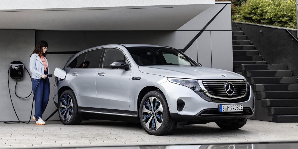 De Mercedes EQC kan 1.500 kilo trekken.