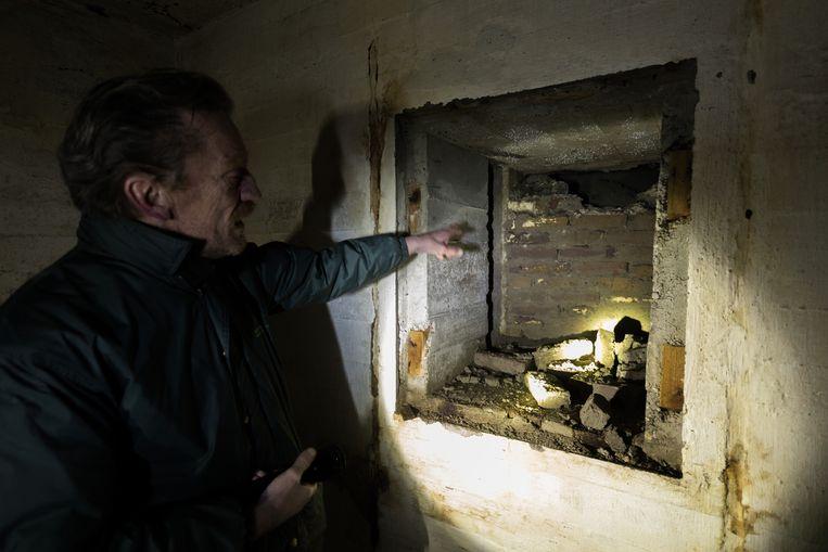 Een van de ruimtes binnen in de bunker. Beeld MARTIJN BEEKMAN /GEMEENTE DEN HAAG