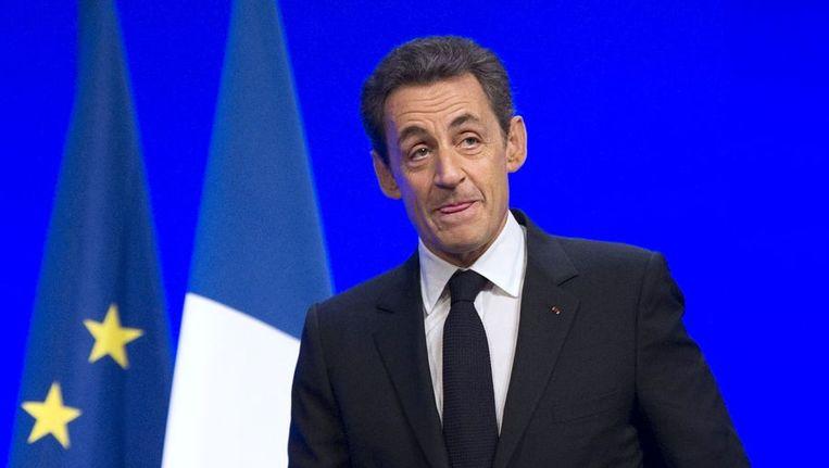 President Sarkozy. © AFP Beeld