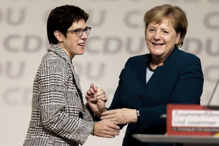 Annegret Kramp-Karrenbauer wordt de opvolger van Angela Merkel als partijleider van het christendemocratische partij (CDU). Beeld Getty Images