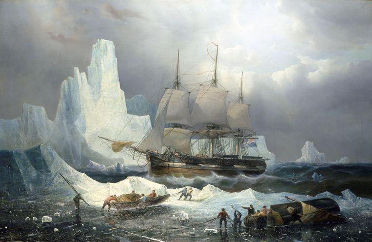 François Etienne Musin: HMS Erebus in the Ice (1846). Beeld Alamy Stock Photo
