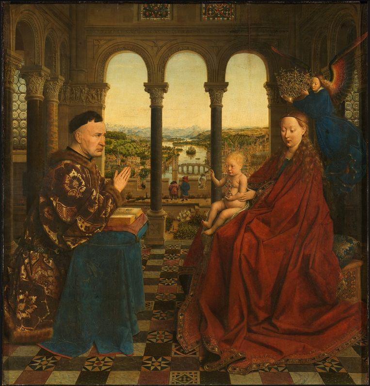 'De Maagd van kanselier Rolin'.  Beeld Van Eyck