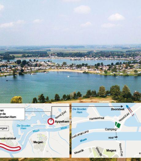 Blijdschap aan recreatiegebied Gouden Ham over nieuw plan voor doorsteek van de Maas