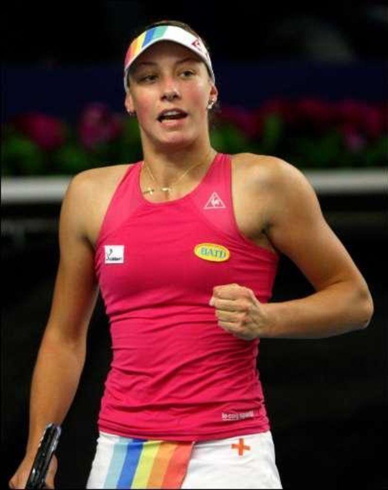 Wickmayer versloeg de Française Julie Coin met 6-2 en 6-0. Beeld UNKNOWN
