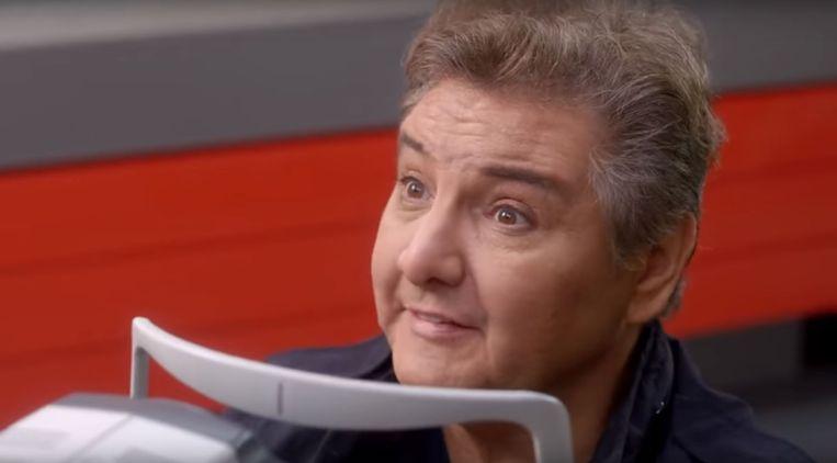 René Froger in de reclame van Eyelove. Beeld