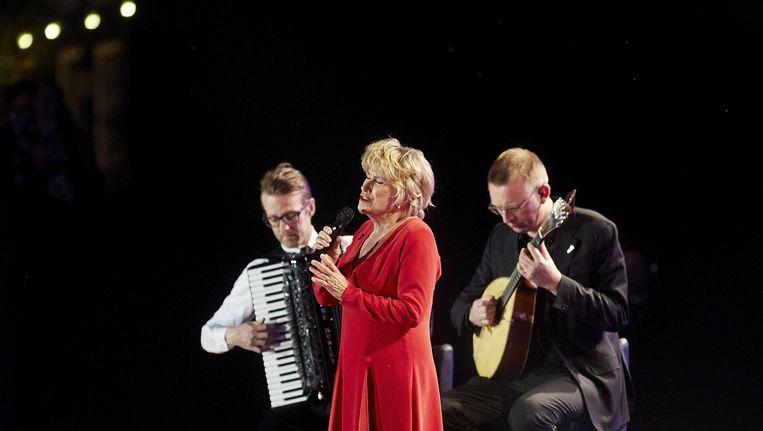 Jenny Arean tijdens het 5 mei-concert bij Koninklijk Theater Carre (2014). Beeld anp