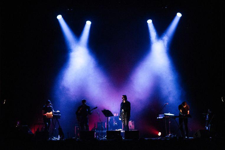 Lyenn, Garwood, Lanegan en Struyf in De Roma. Beeld Tine Schoemaker