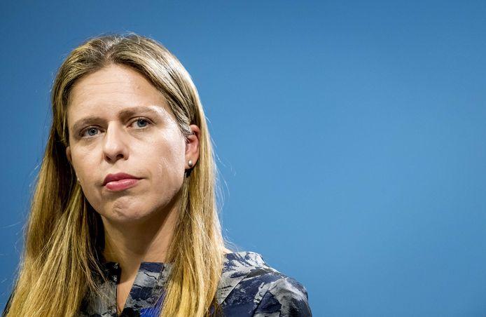 Minister Carola Schouten (Landbouw, Natuur en Voedselkwaliteit) staat de pers te woord over de aanpak van de stikstofcrisis.