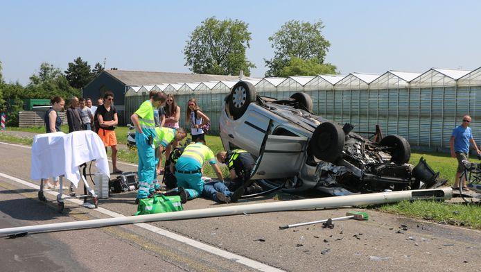 Bij het ongeluk viel een gewonde.