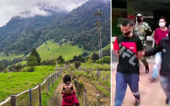 De Belgische vrouwen waren op vakantie in de Cocora-vallei toen deze twee mannen hen 16 uur lang ontvoerden en seksueel misbruikten.