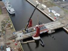 Spectaculaire dronebeelden van Dokbrug in Vlissingen