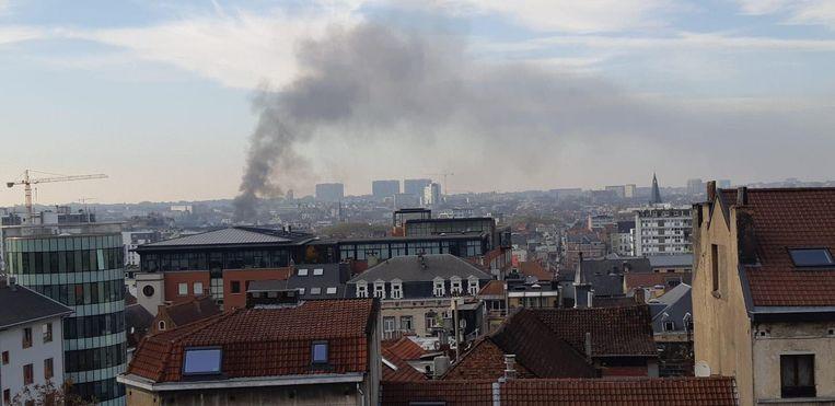 De rookpluim was van kilometers ver te zien