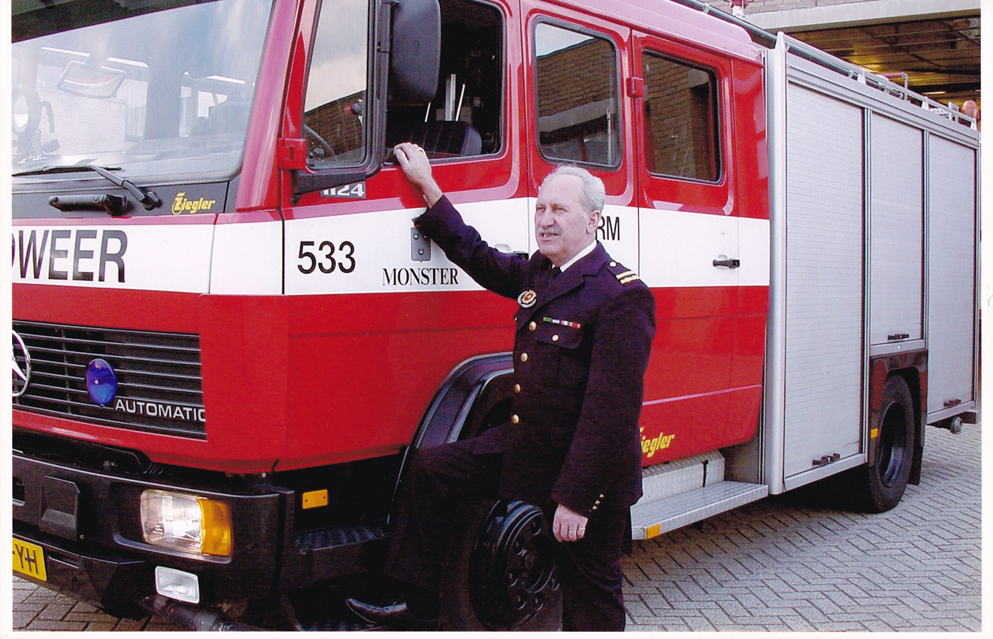 Chris begin jaren negentig als commandant.