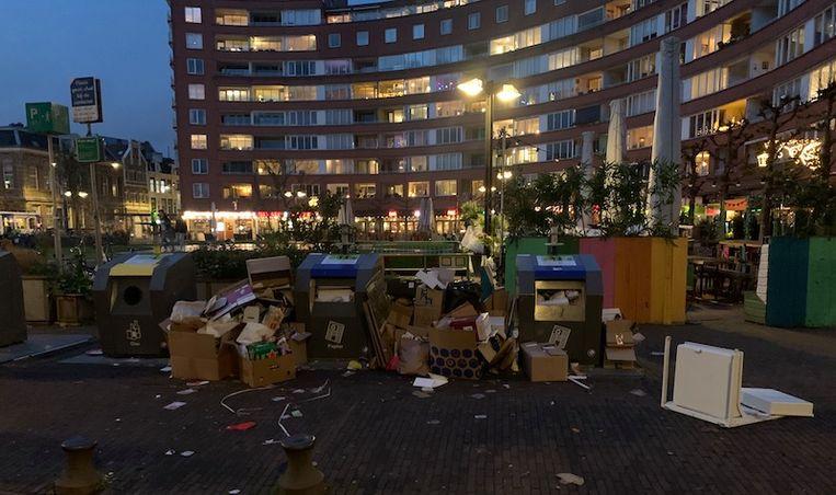 Het Marie Heinekenplein. Beeld Het Parool