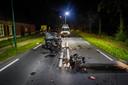 Het ongeluk gebeurde op de N615 in Lieshout.