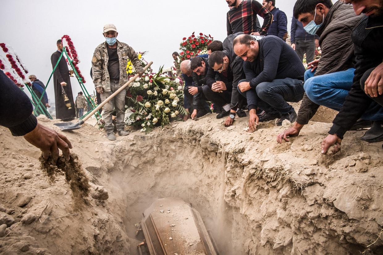 Tijdens het conflict lieten, afhankelijk van de bron, 1.500 tot 5.000 Armeniërs het leven. Beeld OLIVIER PAPEGNIES