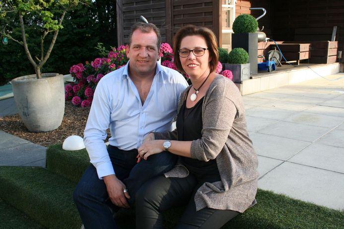 Freek Vanrooy met zijn vrouw Marleen.