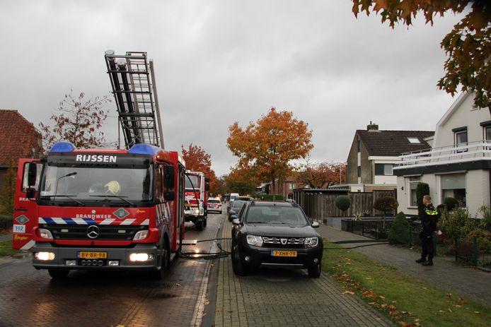 De brandweer in Rijssen.