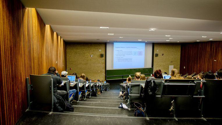 Collegezaal van de Universiteit Tilburg. Beeld anp