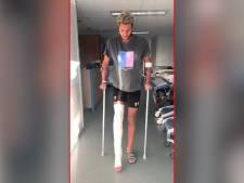 Onfortuinlijke voetballer Jordy Bal (20) na dubbele beenbreuk weer 'veilig in eigen bed'