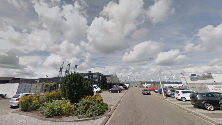 Het bedrijventerrein aan de Jarmuiden. Beeld Google Street View