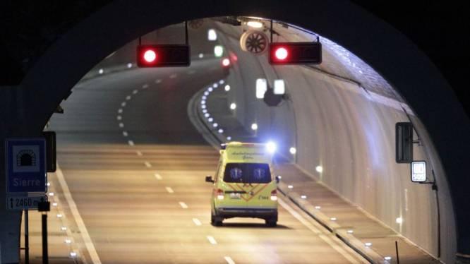 Crisiscentrum geopend nabij tunnel Sierre