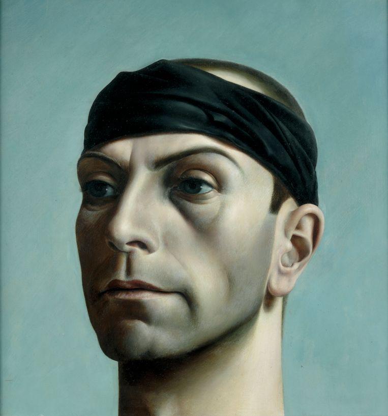 Pyke Koch - Zelfportret met zwarte band (1937) Beeld Centraal Museum Utrecht