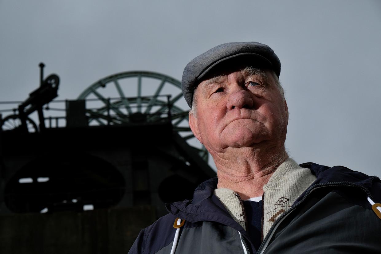 Ex-mijnwerker Bill Kimberley bij de voormalige Pleasley mijn bij Bolsover.