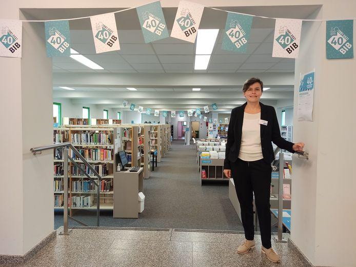 Coördinator van de bibliotheek van Evergem, Brenda De Windt.