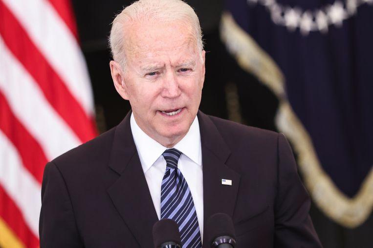 De Amerikaanse president Joe Biden. Beeld EPA