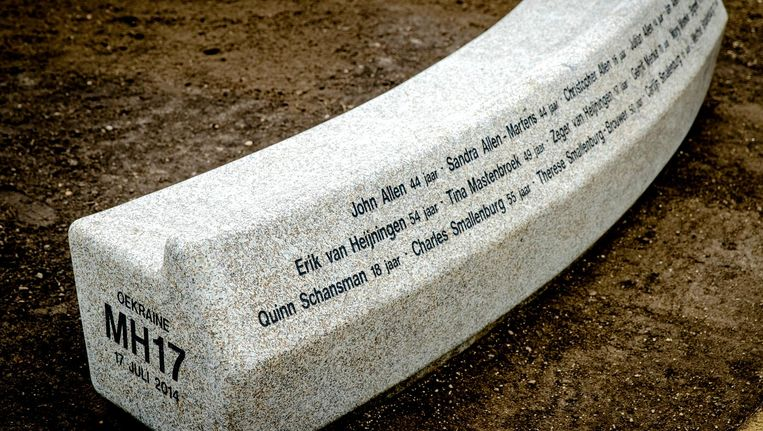Het MH17-monument in Hilversum. Beeld anp
