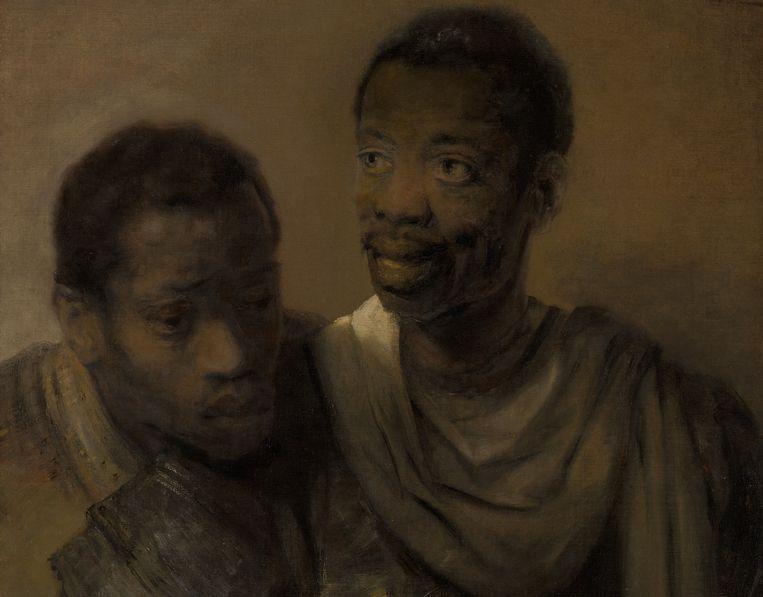 Rembrandt van Rijn, 'Twee Afrikaanse mannen' (1661) Beeld Mauritshuis, Den Haag