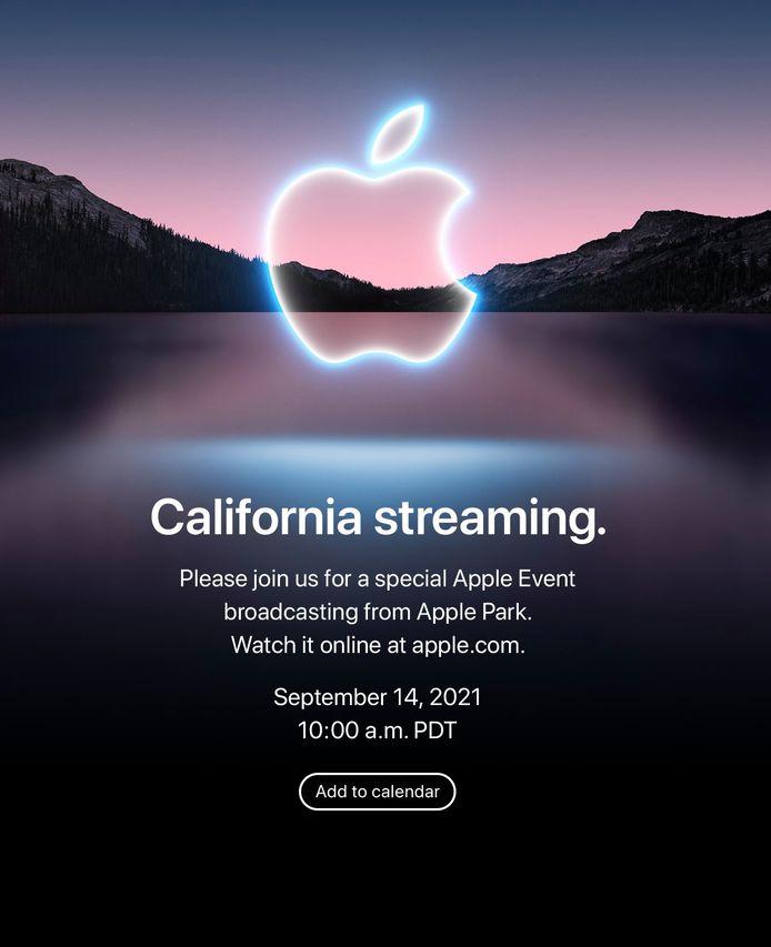 De uitnodiging die Apple naar de pers verstuurde.