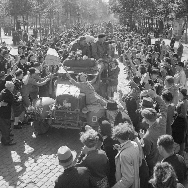 De Belgische Brigade Piron bevrijdt Brussel. Beeld Collectie Jean-Louis Marichal