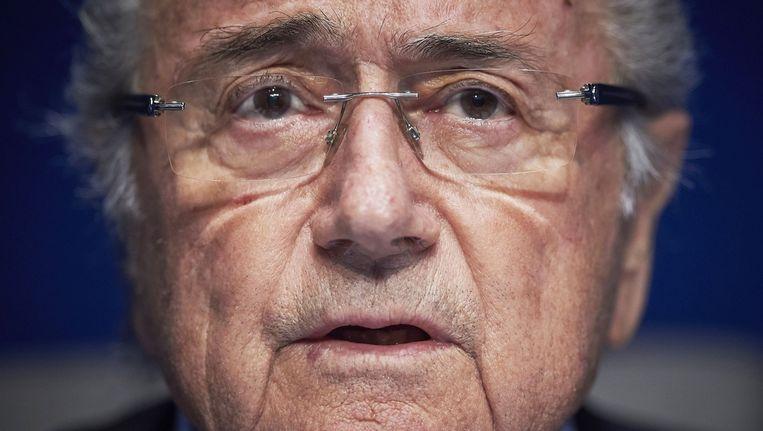 Sepp Blatter. Beeld AFP / Michael Buholzer