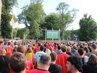 Toch voetbalfeest op Ingelmunsters Marktplein, als Rode Duivels kwartfinale halen