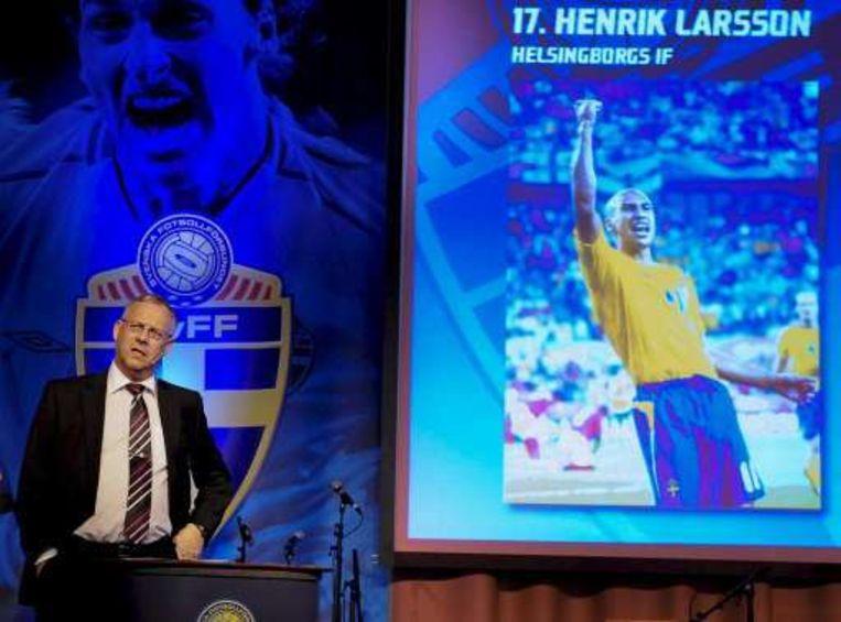 Bondscoach Lars Lagerbäck pakte uit met een verrassing in zijn EK-selectie. Beeld UNKNOWN