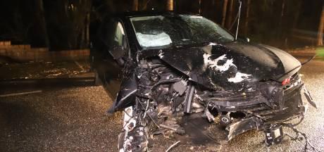 Auto klapt tegen bomen en raakt total loss bij ongeluk in Appeltern