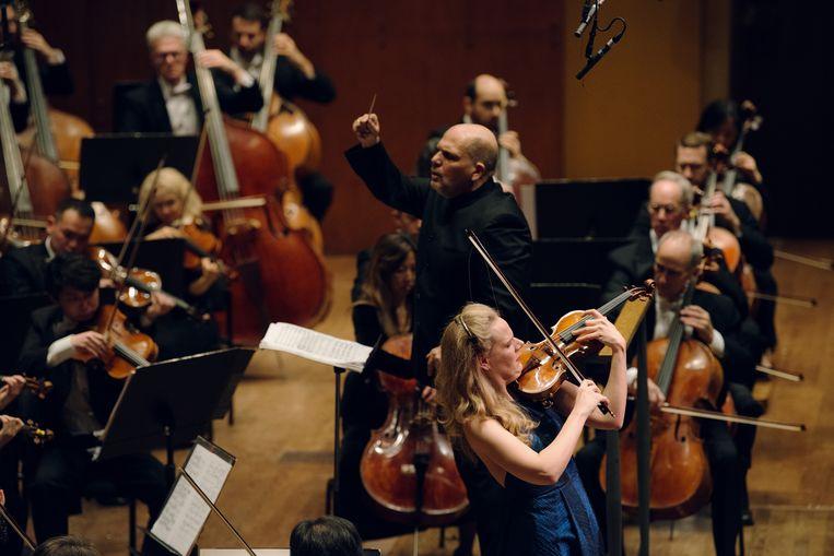 Simone Lamsma, vorig jaar  met het New York Philharmonic. Beeld Bryan Thomas, Hollandse Hoogte