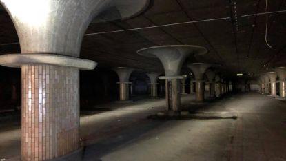 Indrukwekkende foto's tonen verborgen ruimte onder Brussels Zuidstation