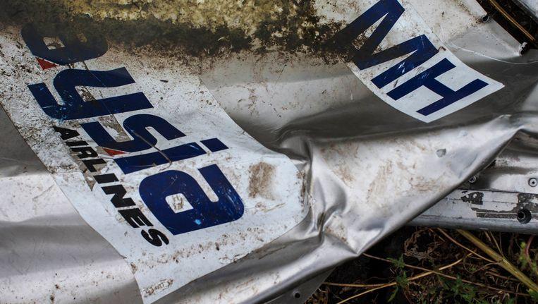 Een wrakstuk van de neergehaalde MH17. Beeld REUTERS