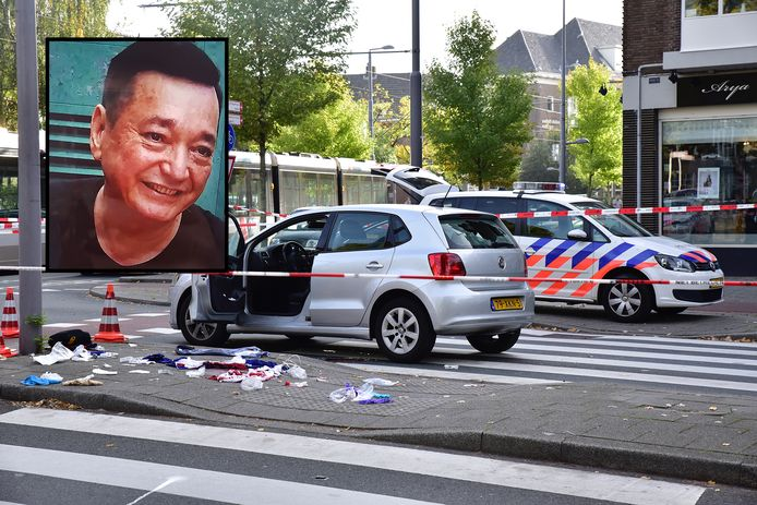 De Willem Ruyslaan na de schietpartij. Foto-inzet Moon Tong Choi.