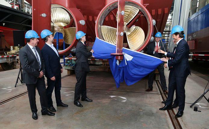 November 2017: Damen Shipyards presenteert voor het eerst een scheepsschroef die met een 3D-printer is gemaakt.