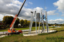 De bouw van de Kempentoren in het Spoorpark is begonnen.